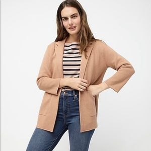 NWT J.Crew Sophie Open-Front Sweater-Blazer